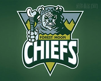Forest Moon Chiefs怪兽标志设计