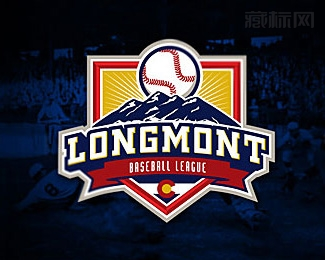 Longmont Baseball League棒球联盟logo设计