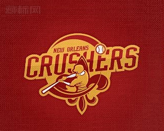 New Orleans Crushers棒球logo设计