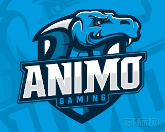 Animosity Gaming恐龙logo设计