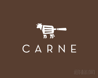 carne steak house牛排标志