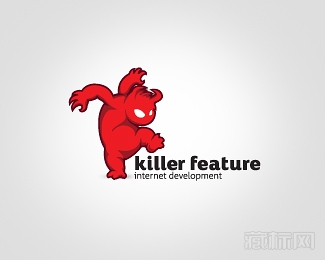 Killer Feature怪兽logo设计