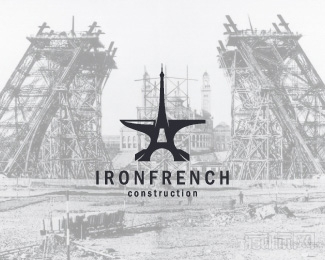 Iron French Construction建筑logo设计欣赏