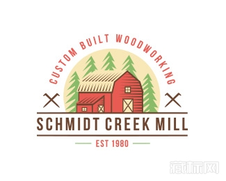 Schmidt Creek mill房子logo设计欣赏