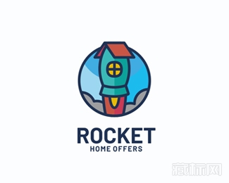 Rocket Home Offers火箭房子logo设计欣赏