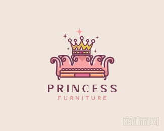 Princess Furniture公主家具logo设计欣赏