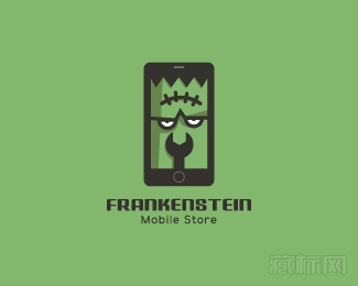 Frankenstein Mobile Store科学怪人商店logo设计欣赏