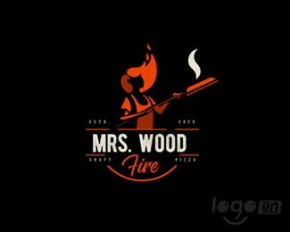 Mrs. Wood Fire木火太太logo设计欣赏