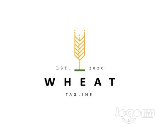 Simple Wheat小麦logo设计欣赏