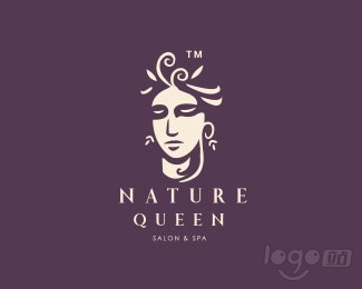 nature queen salon&spa女王水疗中心logo设计欣赏