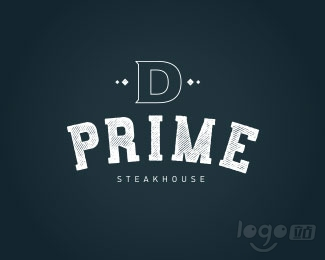 D Prime Steakhouse牛排店logo设计欣赏