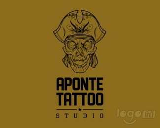 Aponte Tattoo Studio工作室logo设计欣赏