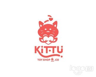 Kittu Toy Shop玩具商店logo设计欣赏