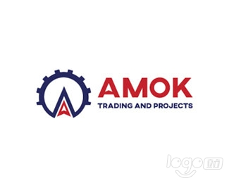 AMOK Trading and Projects logo设计欣赏
