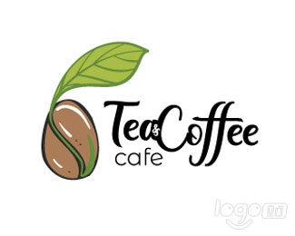 Tea & Coffee Cafe咖啡店logo设计欣赏